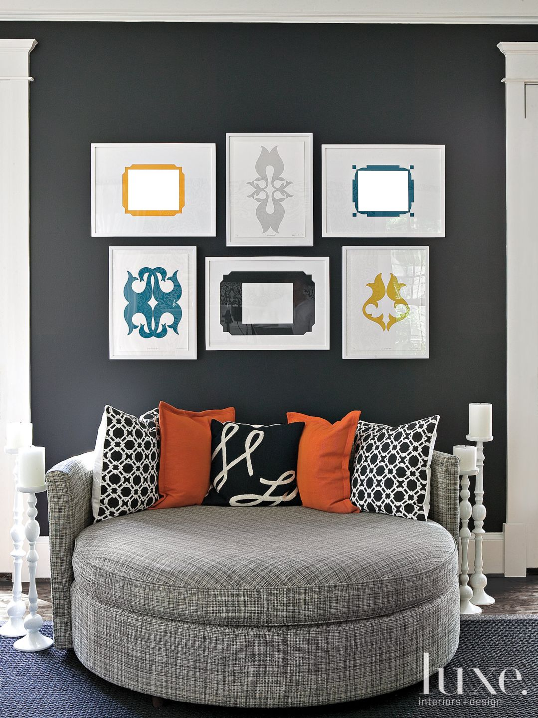 Black Contemporary Family Room Oversize Chair