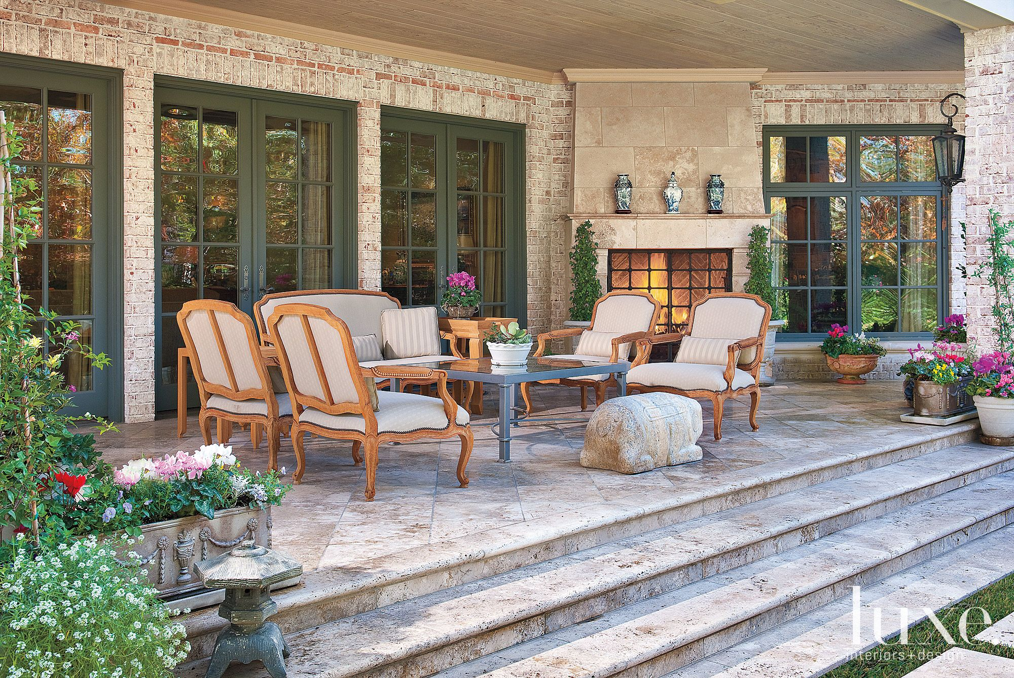 French Country Neutral Patio