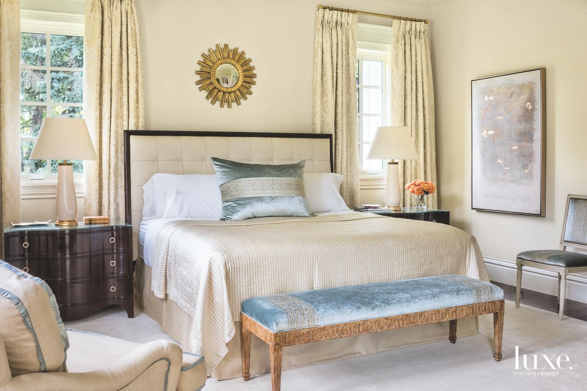 Neutral Master Bedroom with Warm Touches
