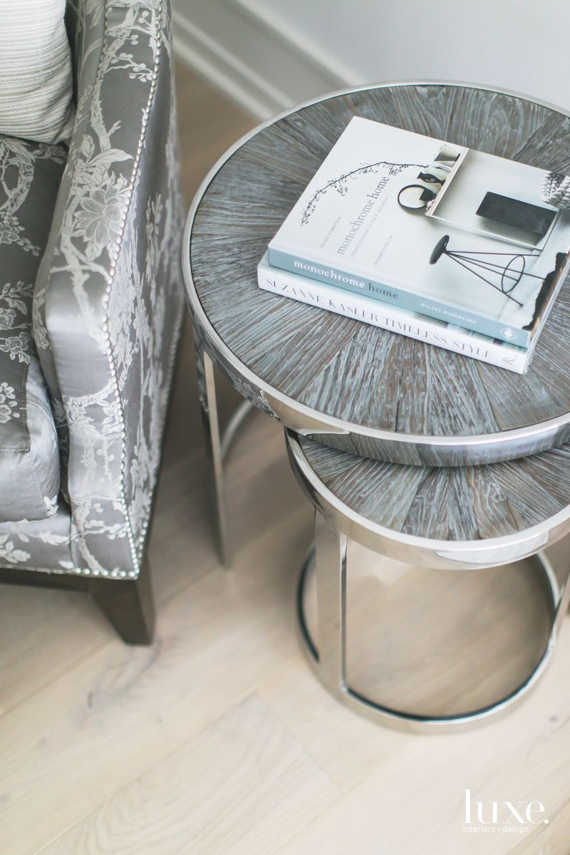 Nesting Side Tables Gray Master Suite Close Up