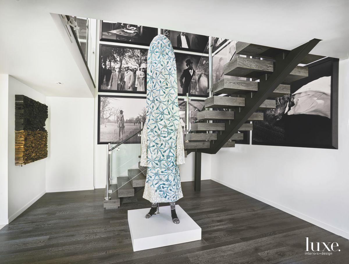 Artful Geometric Spiral Staircase