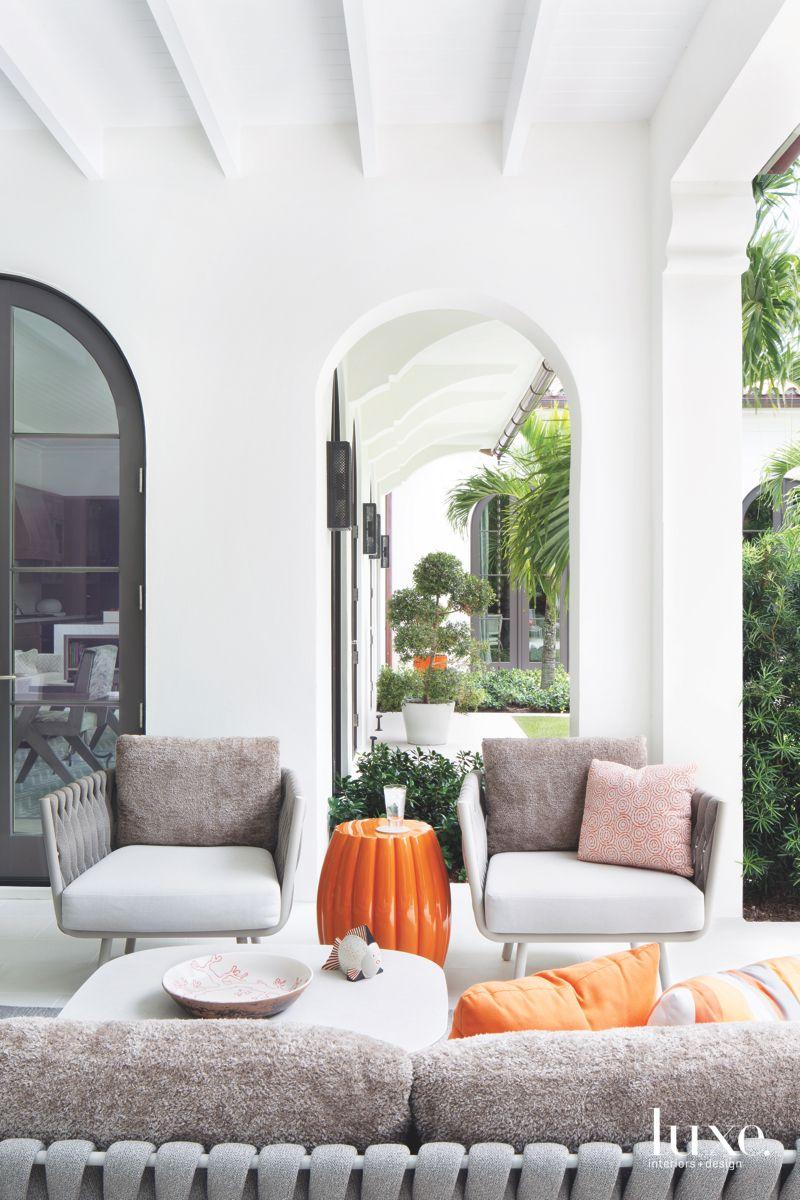 Covered Loggia with Orange Accessory Pops