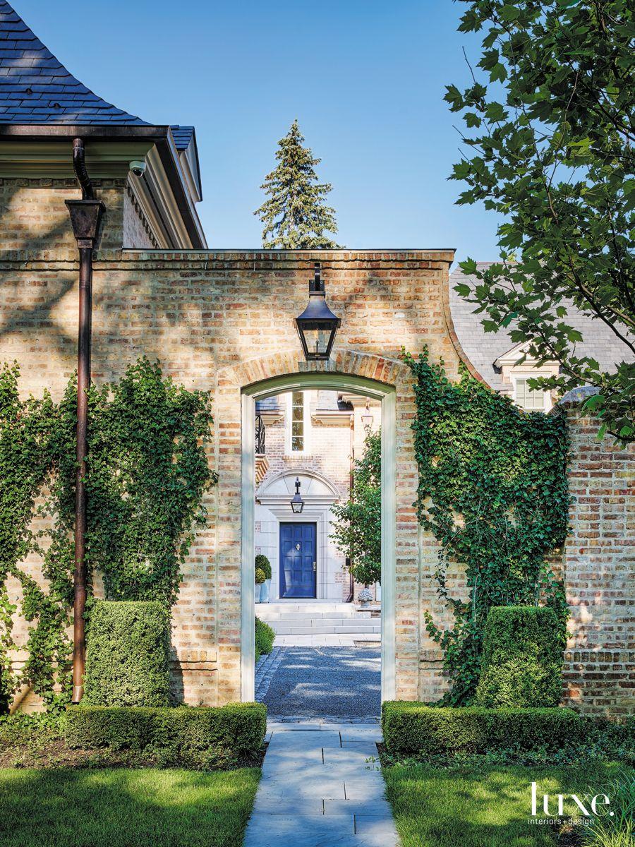 Elegant Exterior of a Brick Beauty