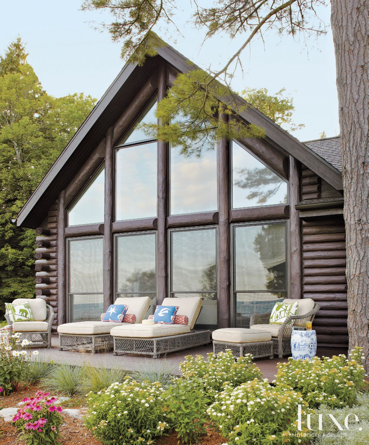 Country Neutral Rear Exterior with Outdoor Seating