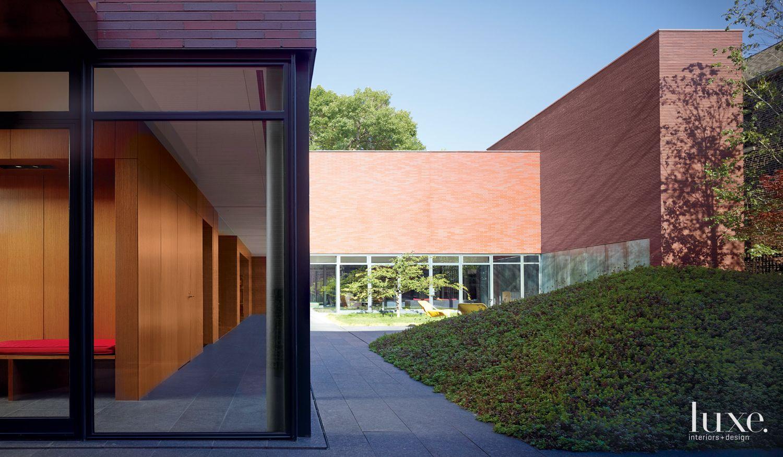 Modern Neutral Exterior with Courtyard