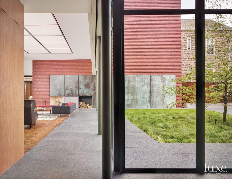 Modern Neutral Hall with Granite Floors