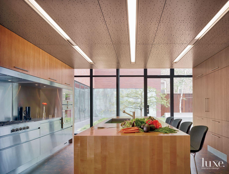 Modern Neutral Kitchen with Butcher Block Island