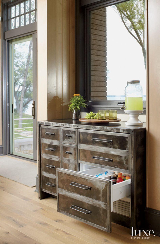 Contemporary Kitchen Fridge Detail