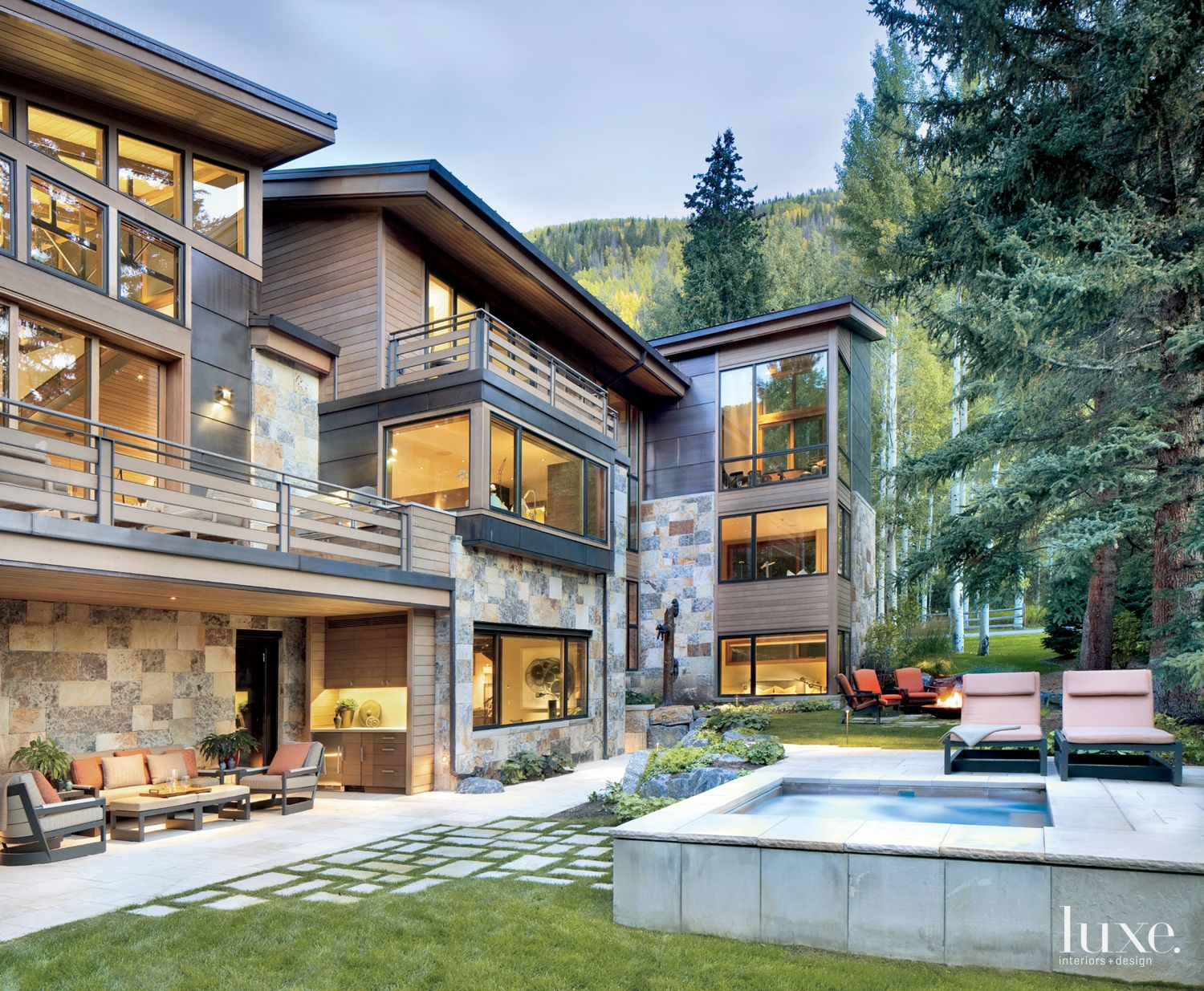 Modern Mountain Exterior with Outdoor Areas