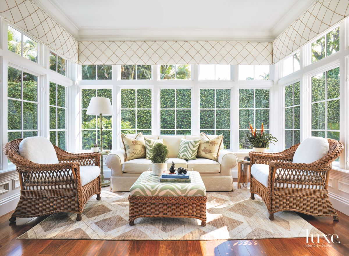 Transformed Sun Room with Open Air and Furnishings