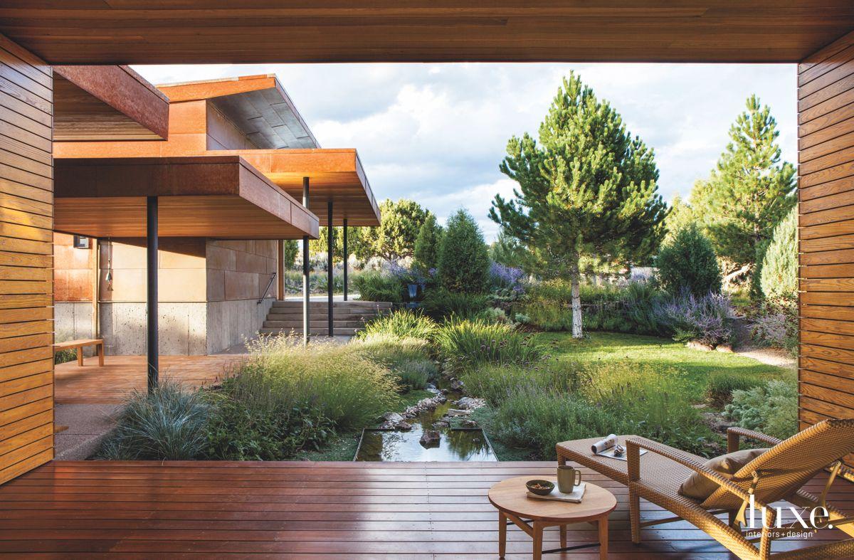 Colorado Porch View with Wooden Exterior