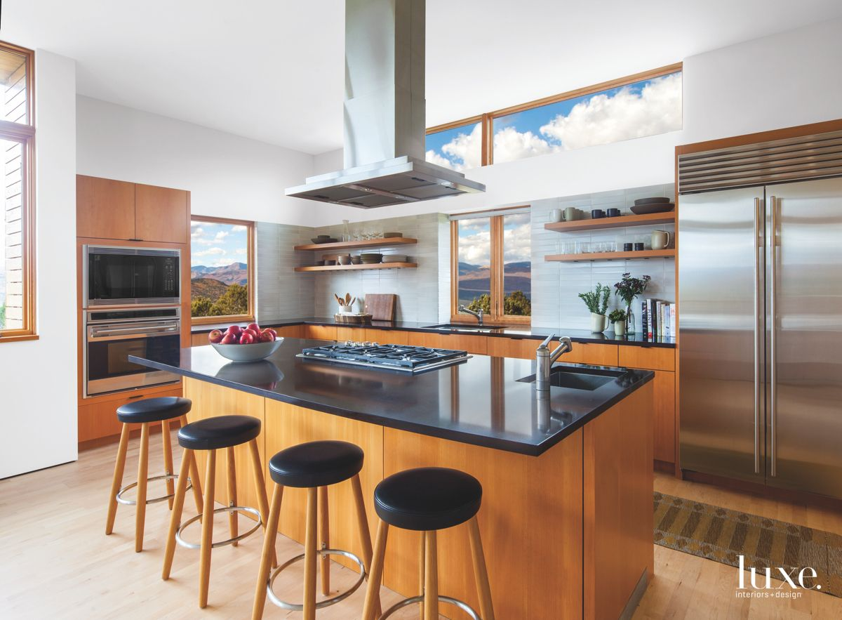 Revamped Wooden Kitchen with Sky Views