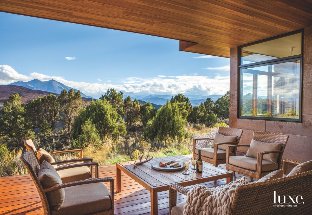 Covered Colorado Porch with Extensive Mountain Views