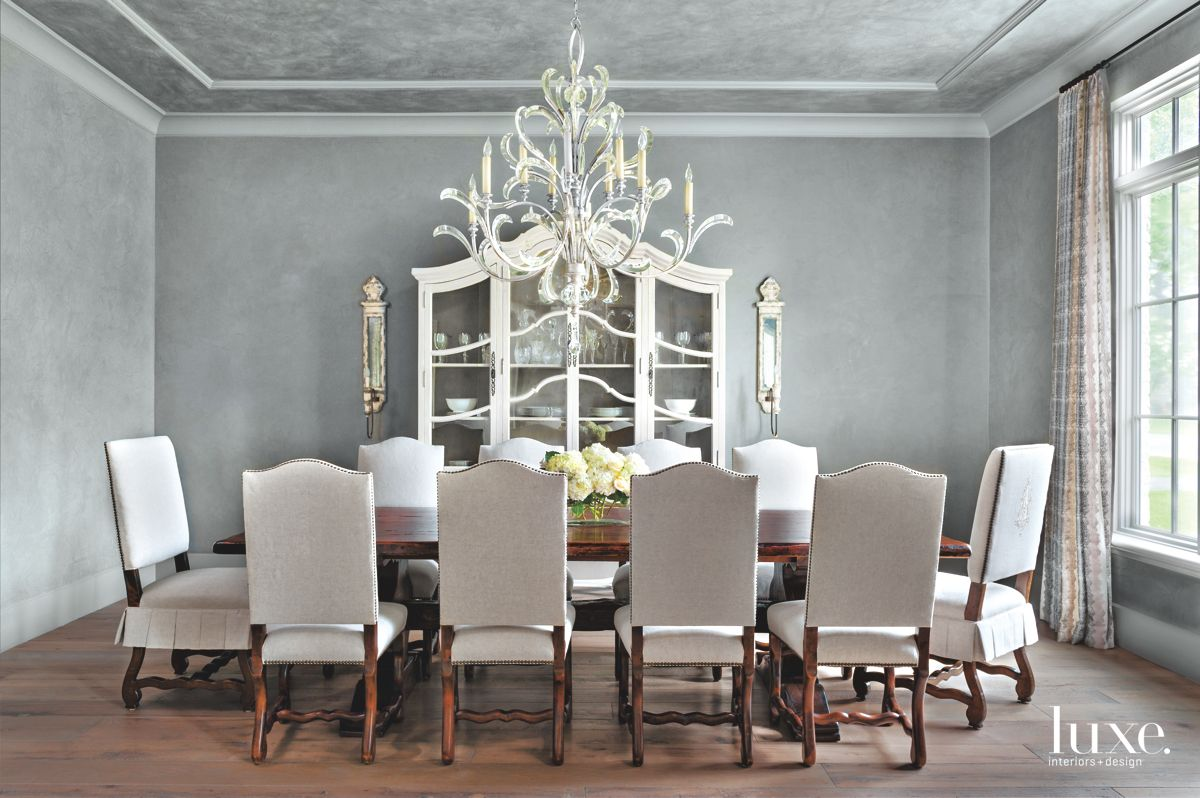 Gray Dining Room Styled with Antiques
