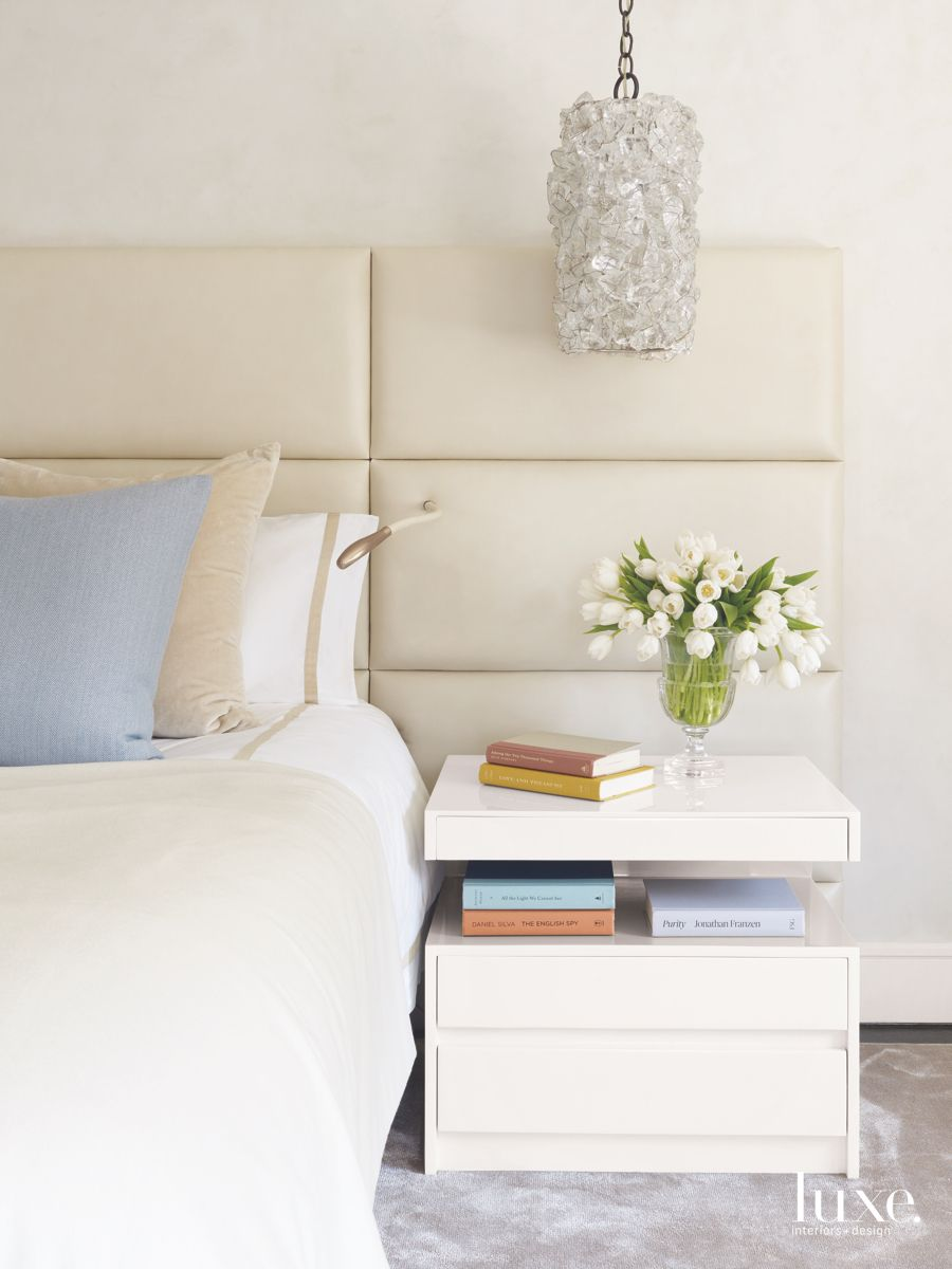Pendant Lights Reminiscent of Earrings in the Master Bedroom