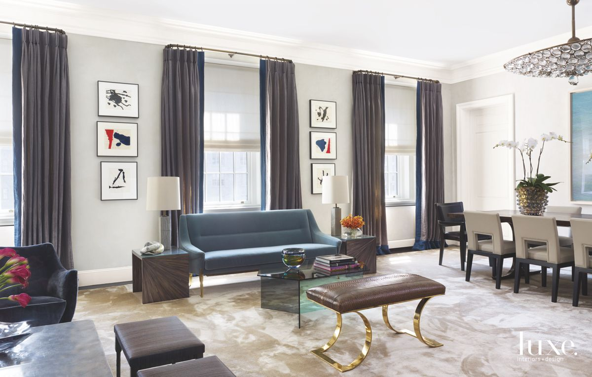 Gray Living Room with Art Series and Furniture Abound