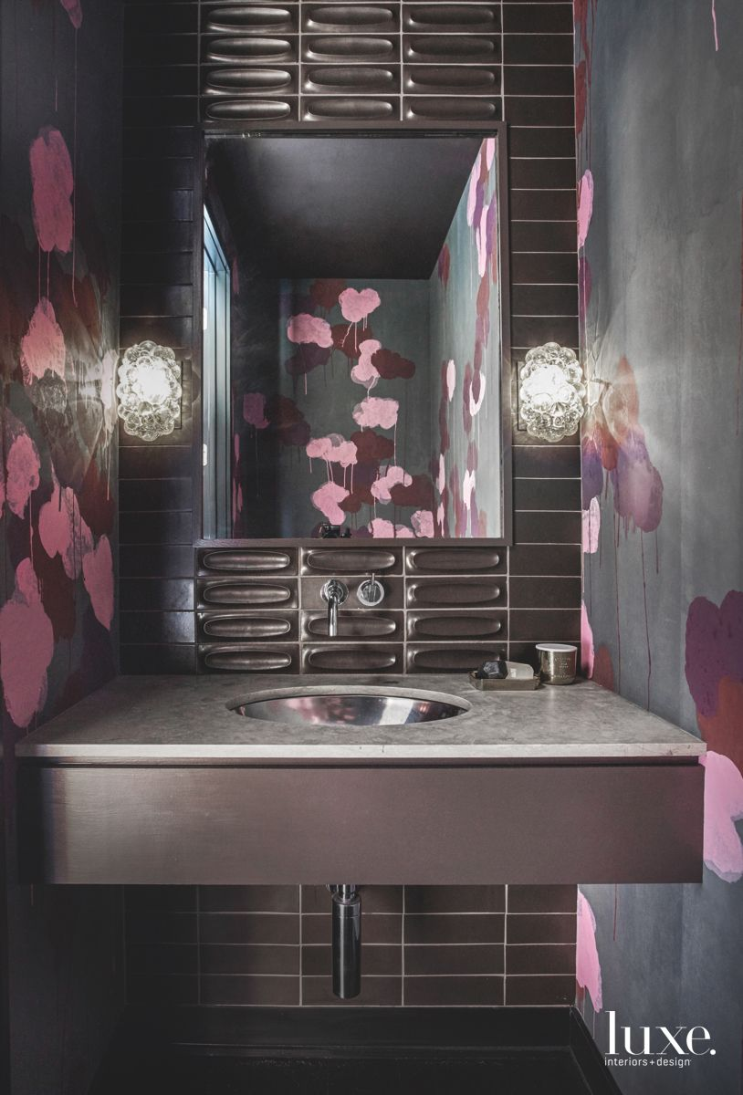 Floral-Graffiti Bathroom Wallcovering
