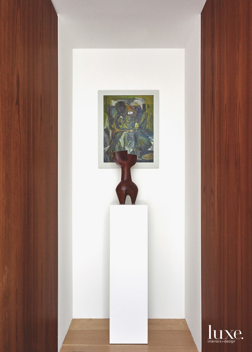 Sculpture and Paining Feature Highlight Hallway