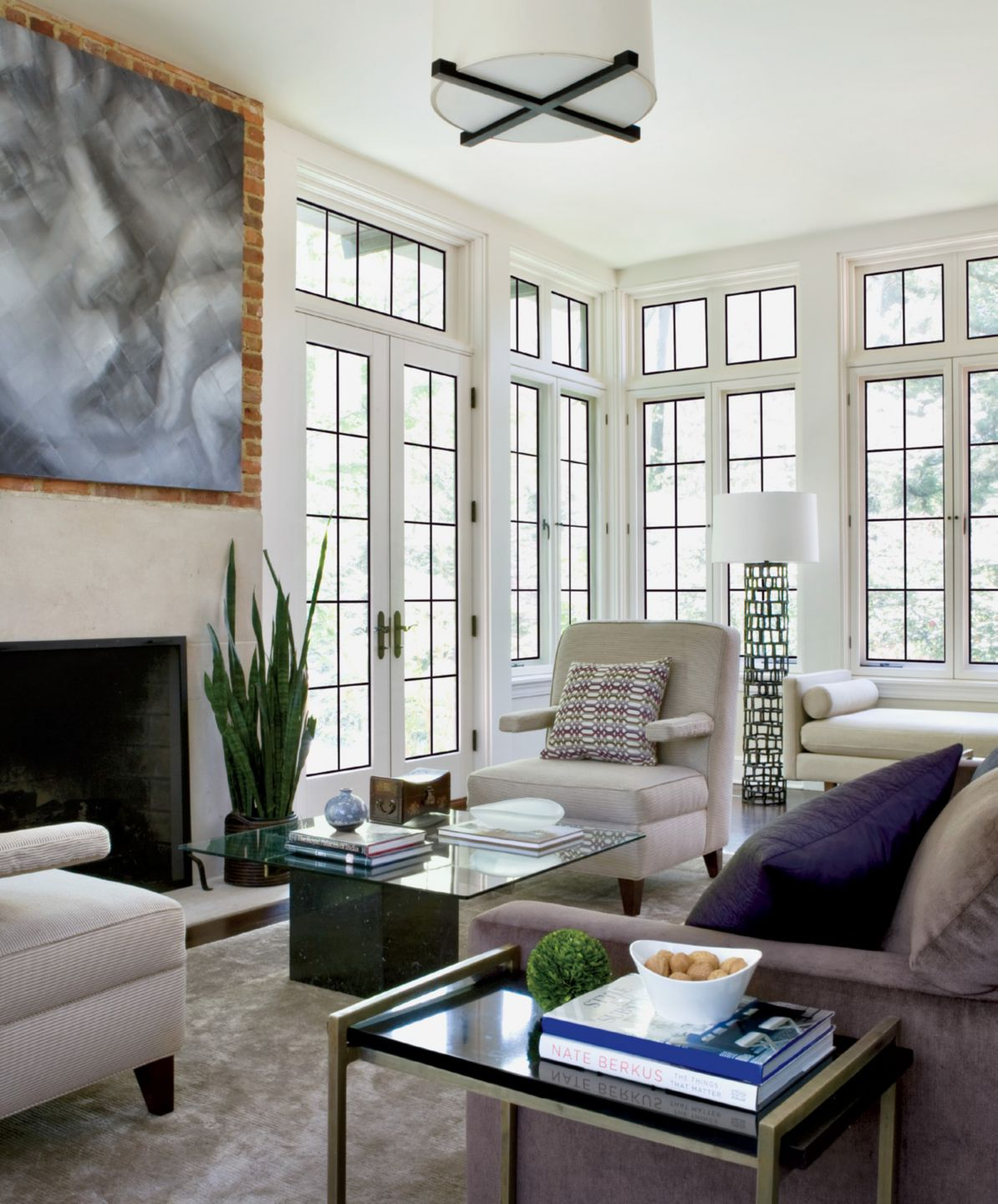 Neutral Contemporary Family Room