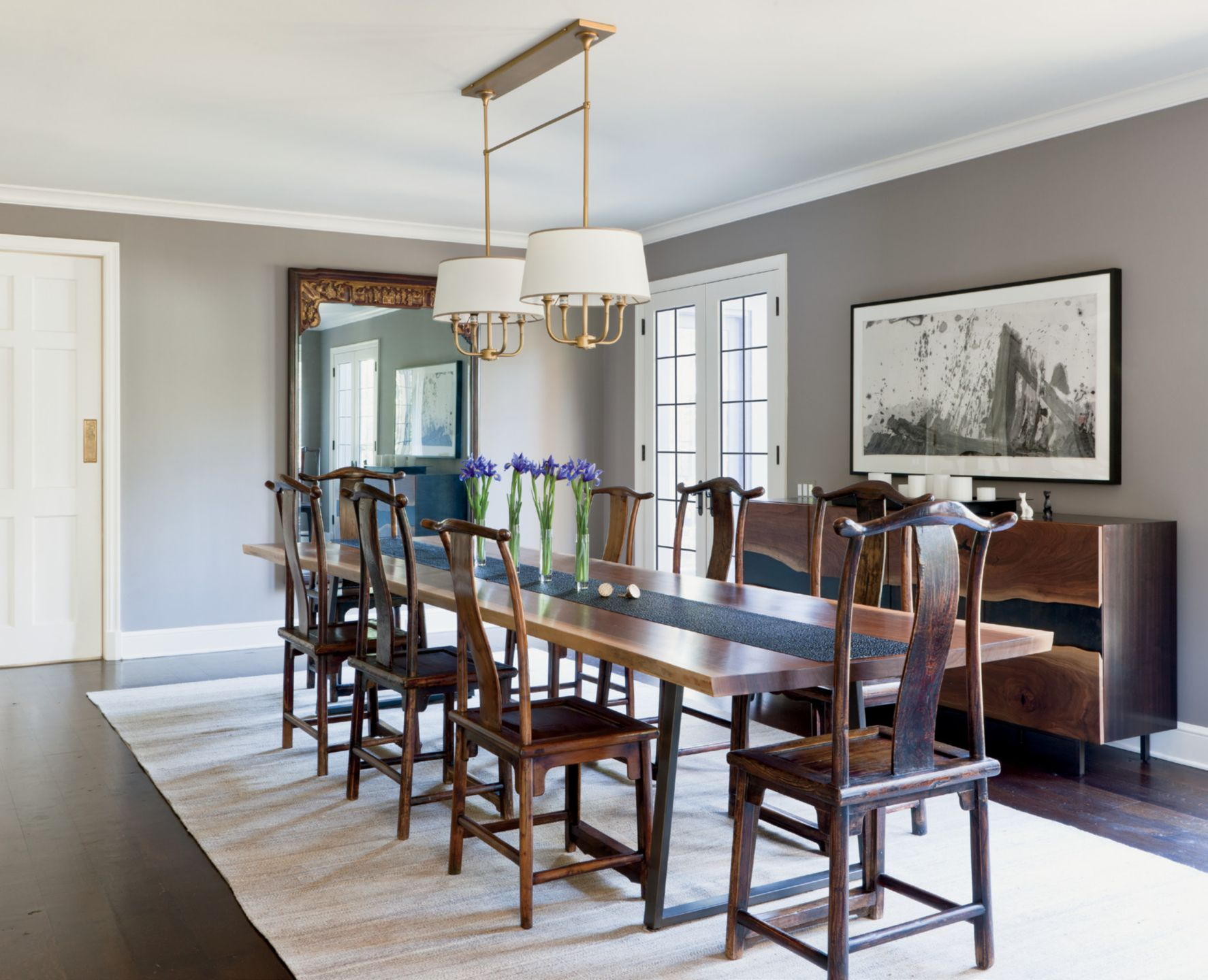 Neutral Contemporary Dining Room