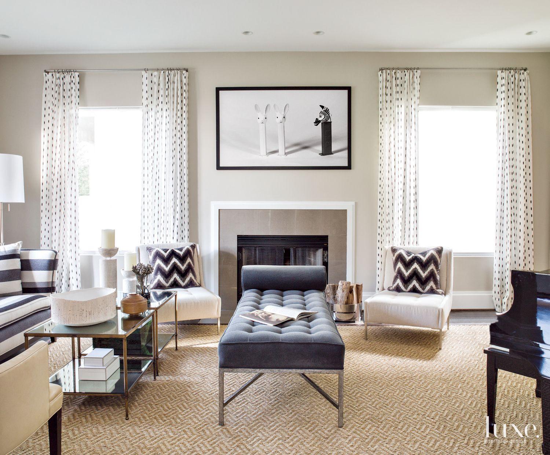 Contemporary Monochromatic Living Area