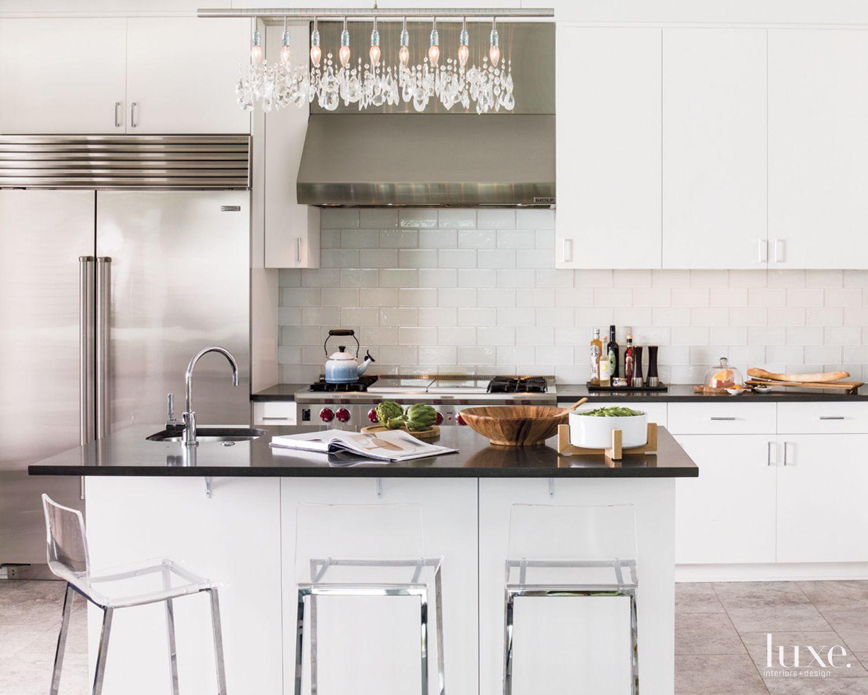 Contemporary All-White Kitchen