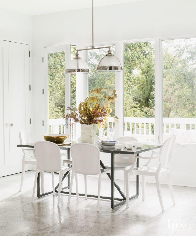 Contemporary All-White Breakfast Area