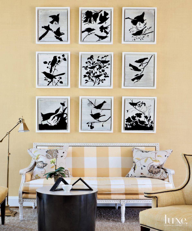 Contemporary Gold Living Room Vignette