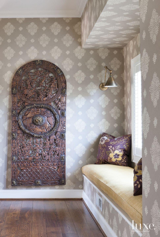 Contemporary Gray Hallway Niche