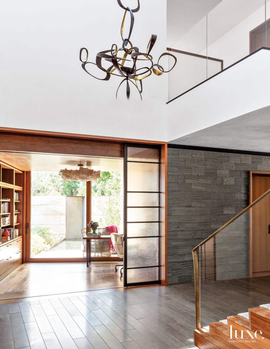 Modern Gray Hall with Office Access