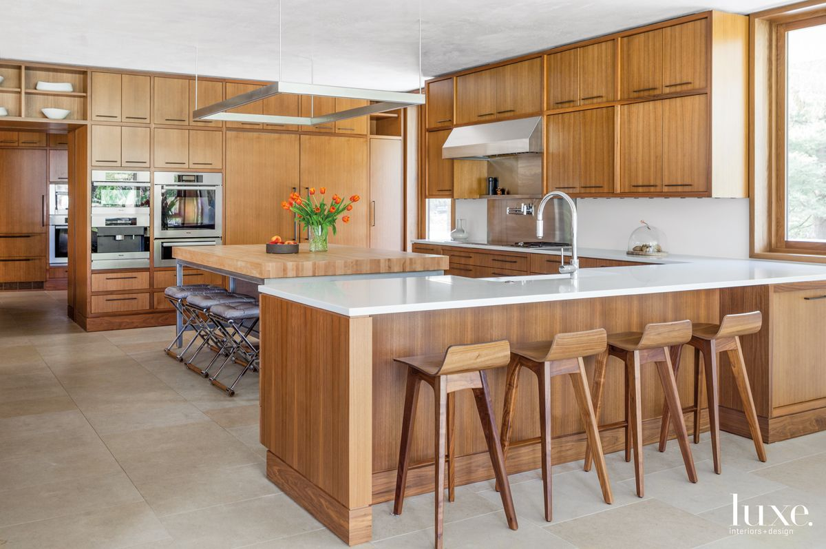 Modern Neutral Kitchen with Ample Seating Space