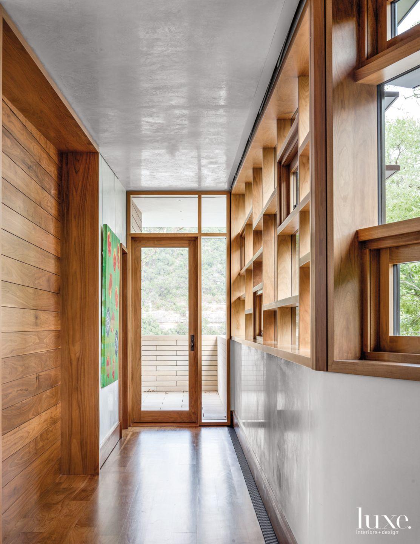 Modern Neutral Hallway with Multi-Pane Window
