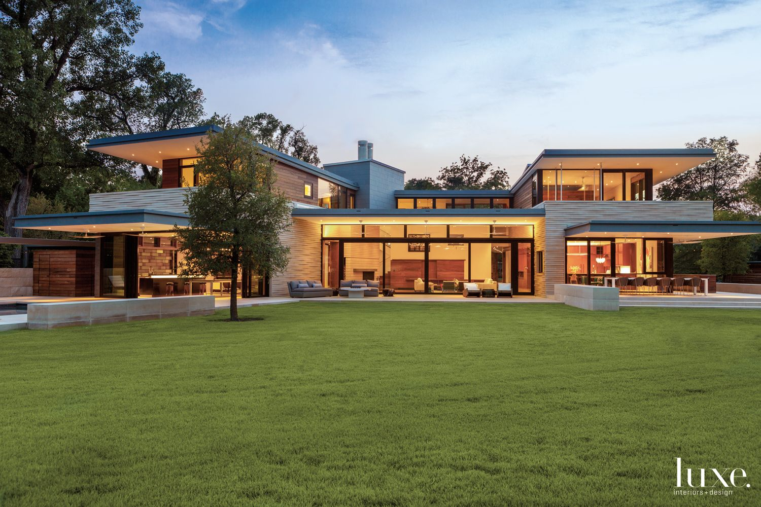Modern Neutral Exterior with Outdoor Entertaining Spaces