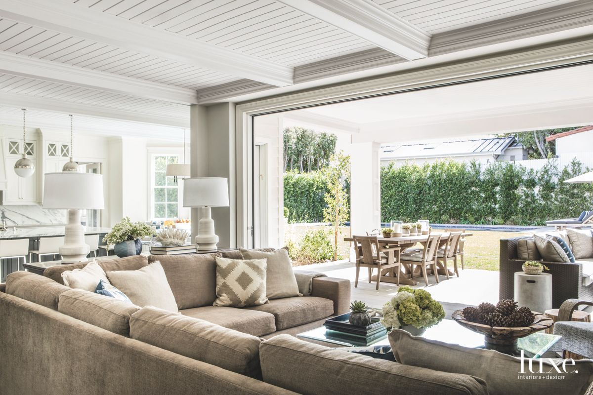 Indoor Outdoor Family Room Opening to the Outside Covered Patio