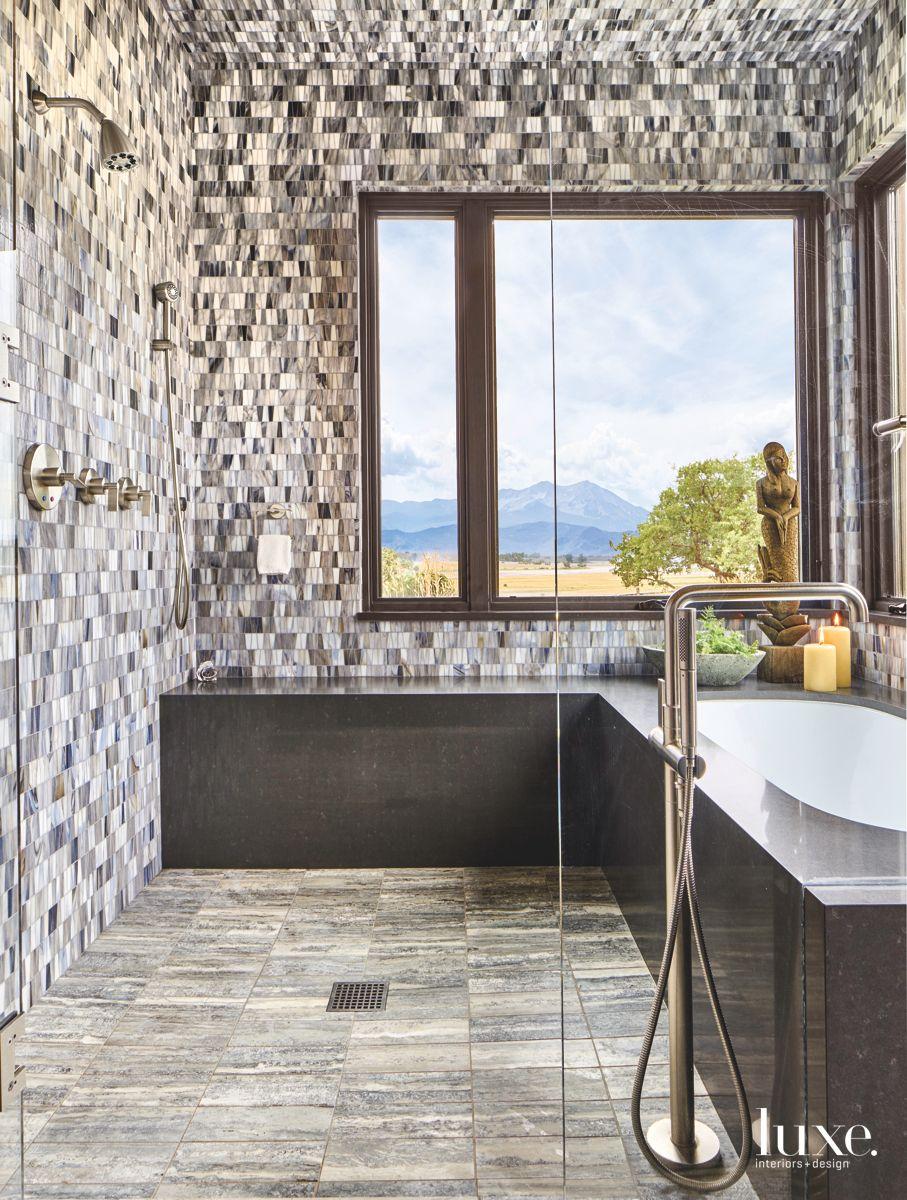 Ann Sacks Tiles Decorate the Master Bathroom
