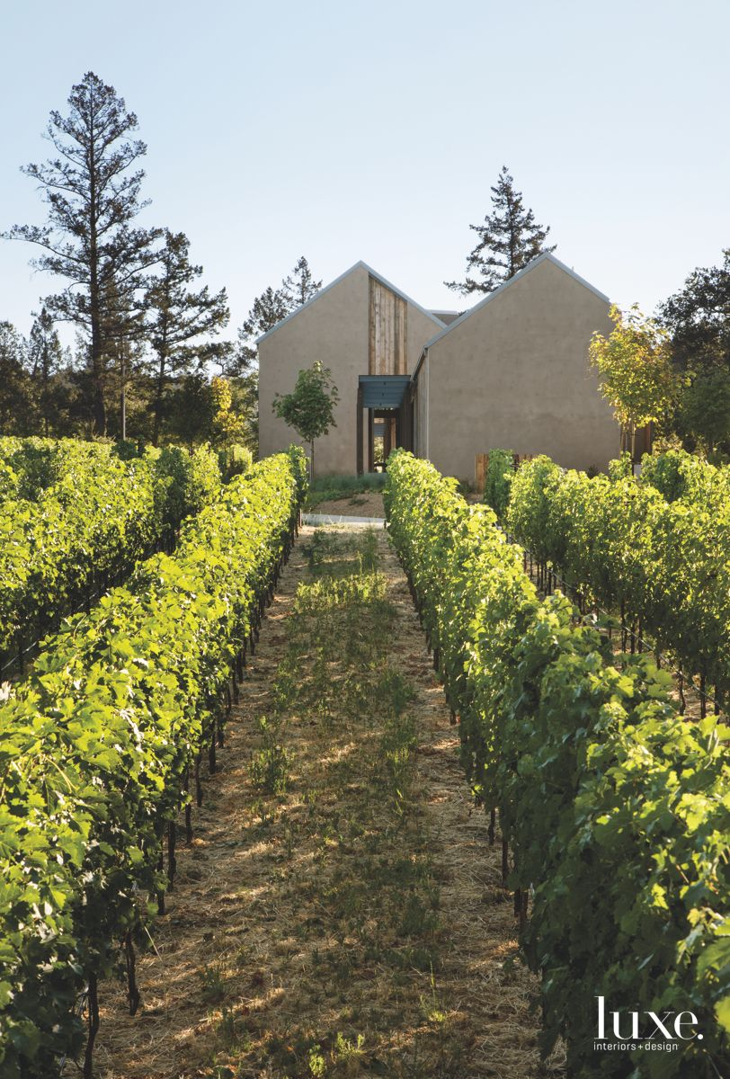 Small Napa Valley Vineyard Dream Exterior with Triangular Roof