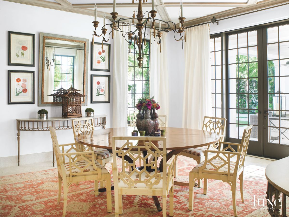Diamond-Patterned Coffered Ceiling with a Cape Dutch Touch