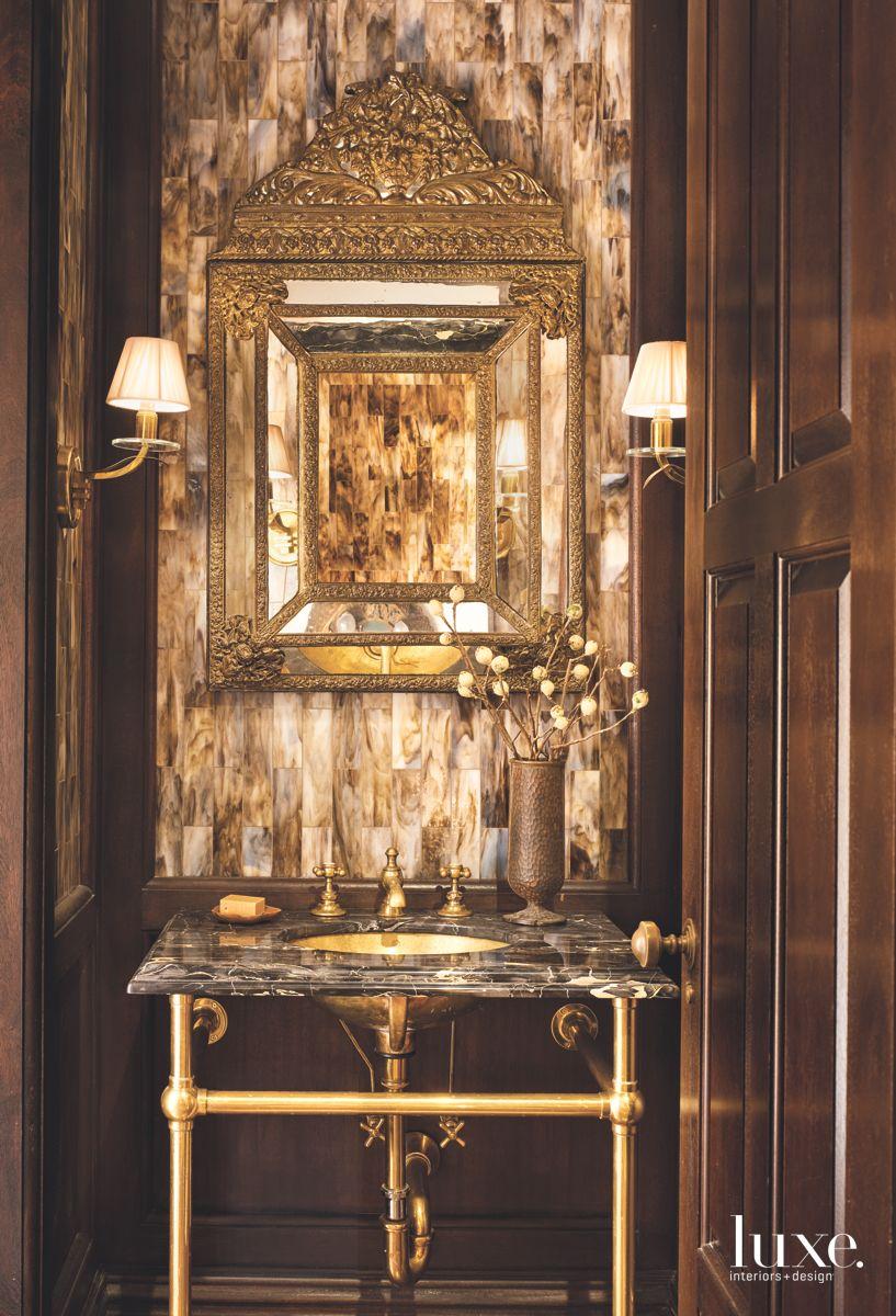 Antique-Looking Powder Room