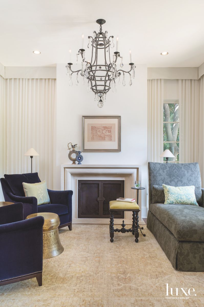 Lounge with Chaise and Chandelier