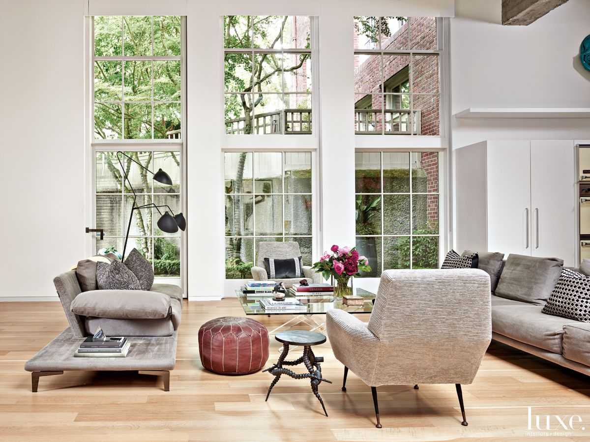 Modern Neutral Living Space with Sculptural Furnishings