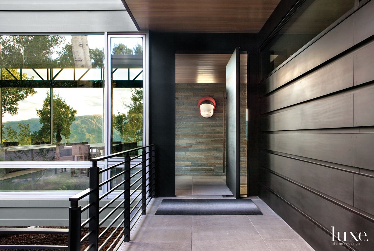 Modern Neutral Entry with Pivoting Entry Door