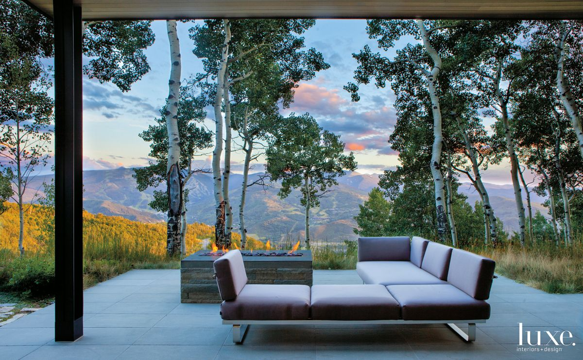 Modern Neutral Terrace with Sweeping Aspens Views