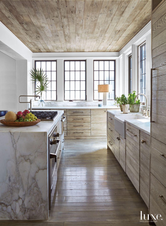 Modern Neutral Kitchen with White Oak Ceiling