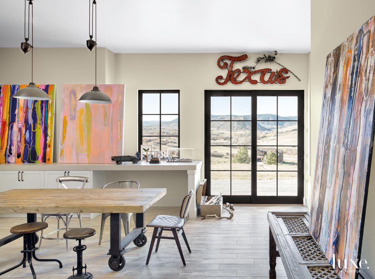 Transitional Neutral Studio with Texas Sign