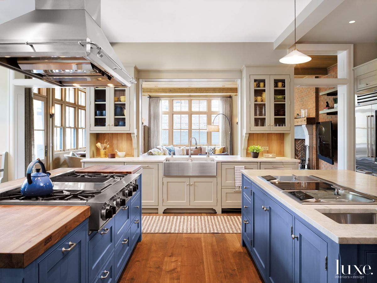 Modern Neutral Kitchen with Hand-Woven Runner