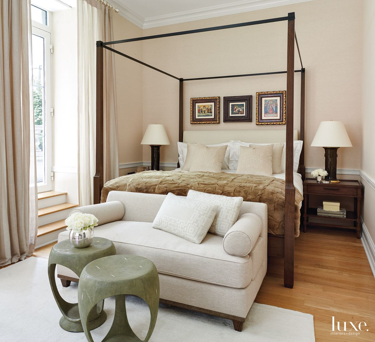 Contemporary Neutral Bedroom with Terrace Access