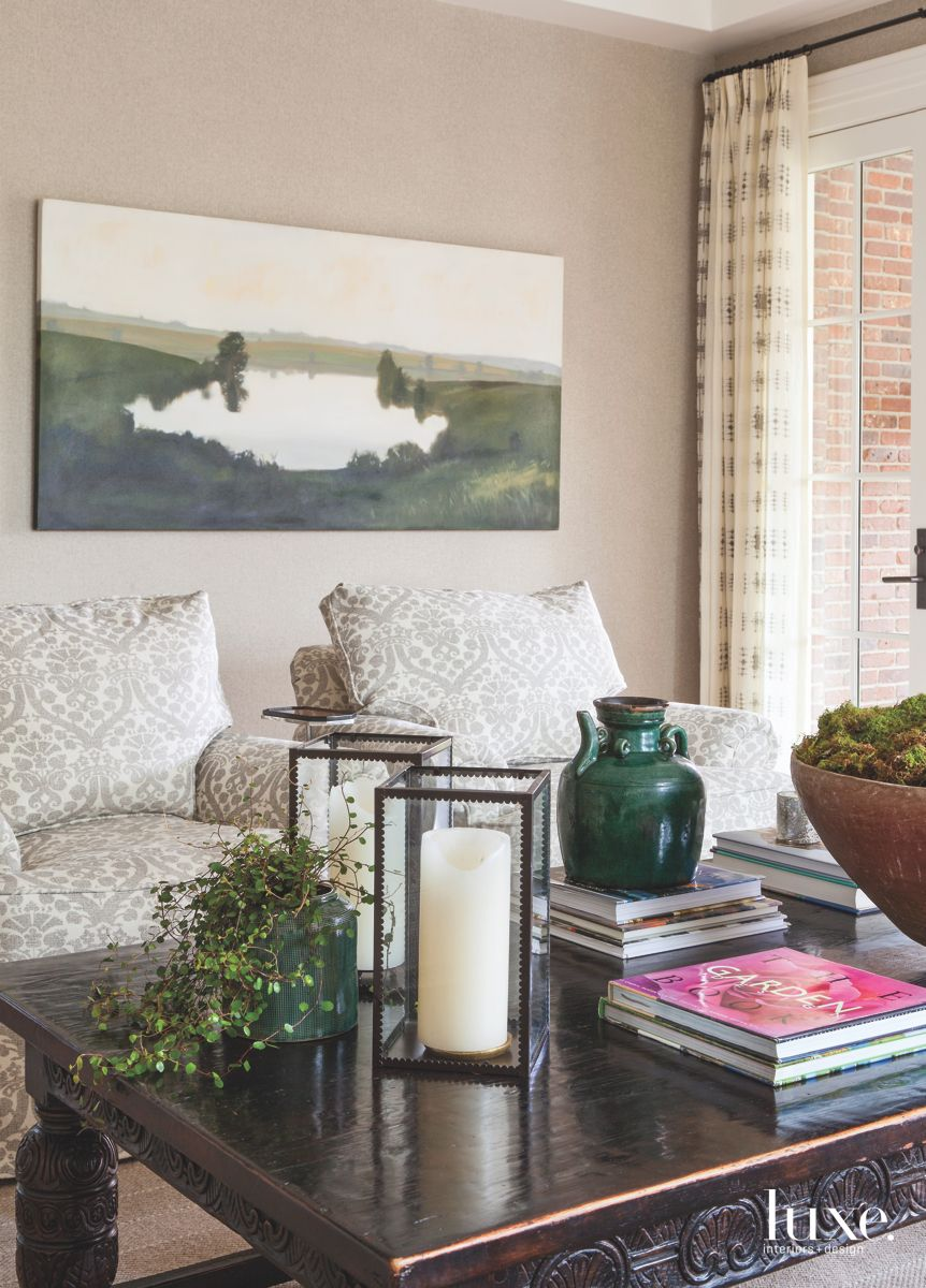 Denver Neutral Living Room with Comfy Chairs, Plants, and Artwork