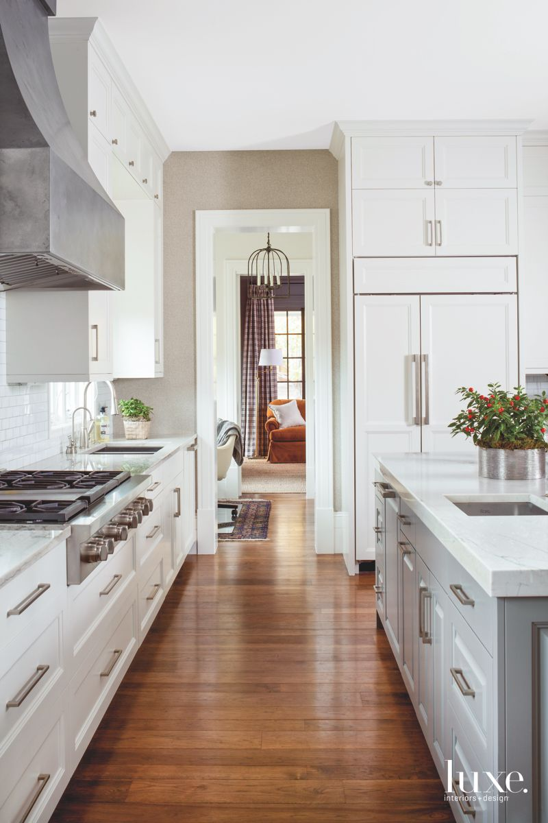Quartzite Cabinets with Concealed Refrigerator