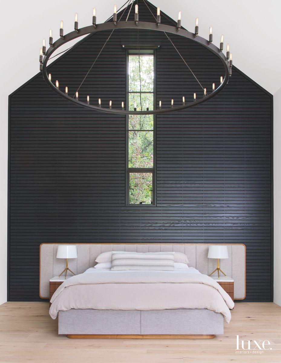 Ebonized Paneling in the Master Bedroom