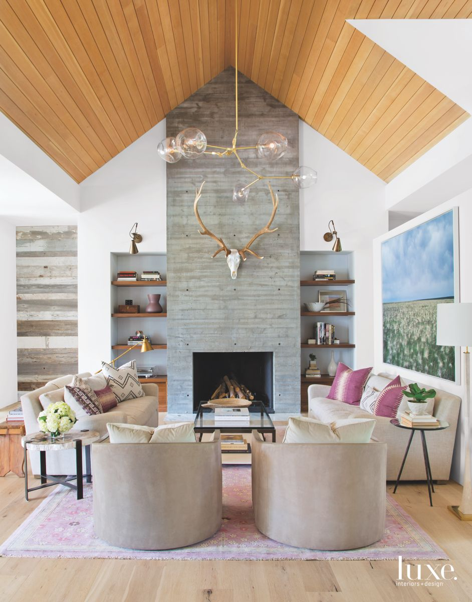 Skull and Fireplace in Denver Farmhouse Home